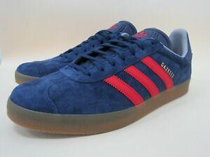 Adidas Gazelle Mi Men's Blue Faux Suede Low Top Sneakers Size 10 BY2984