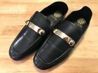 Vince Camuto Padaire Leather Slip-On Loafers Women's 11 W Black 11W