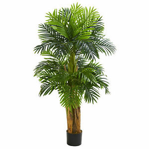 Nearly Natural 5' Triple Areca Palm Artificial Tree Realistic Plant Home Decor