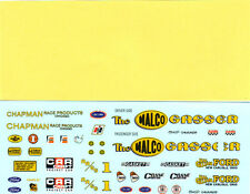 1967 Mustang 1/25 Funny Car WaterSlide Decal Sheet Malco Gasser OHIO GEORGE