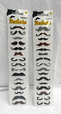 2 Packs of 16 Moustache Stickers - 32 Stickers