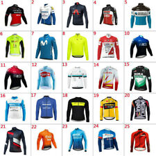 2021 New Mens Team Cycling Long Sleeve Jersey Thermal Fleece Cycling Jerseys