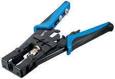 Kompressionszange / Crimpzange für IEC-, F-, BNC- und Cinch-Steckverbinder