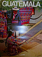 VINTAGE GUATEMALA TOURISM LITHOGRAPH POSTER PRINT