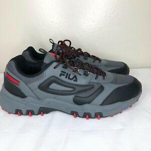 Fila Men's Reminder Athletic Running Sneakers Hiking Shoes Grey Black Red 13 M