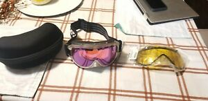 NEW Zeal Polarized Snowboarding Goggles Glasses SKI w/extra lenS and case