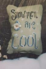 Waxing Moon Designs SNOWMEN ARE COOL X Stitch Chart Winter Snow Snowflakes