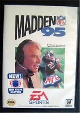 Madden 95 Football Video Game Sega Genesis EA Sports GA