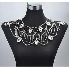 Wedding Bridal Party Crystal Shoulder Body Chain Necklace Earrings Jewelry
