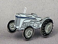 Metal Enamel Pin Badge Brooch Tractor Vintage Old Farm Farmer Field Barn Plough