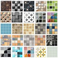 10/19pc Waterproof Tiles Mosaic Wall Sticker Kitchen Bath Adhesive Sticker Decor