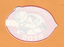 OLD 1980's MLB CINCINNATI REDS 4 1/2 inch LOGO WINDOW DECAL STICKER UNUSED