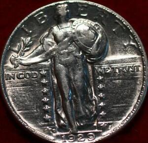 Uncirculated 1929-D Denver Mint Silver Standing Liberty Quarter