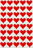 Red Heart Stickers Decorative Valentines Day Labels Permanent Adhesive 200 pack