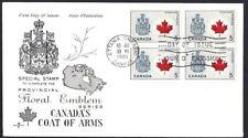 Canada  # 429A Block   Rosecraft  CANADA FLAG  Cover   New 1966 Unaddressed