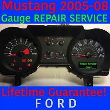 REPAIR SERVICE 2005-2008 FORD MUSTANG INSTRUMENT GAUGE CLUSTER 05 06 07 08