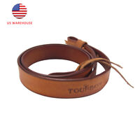 Tourbon Vintage Tan Leather Shotgun Sling Air Gun Shoulder Strap Handmade Style