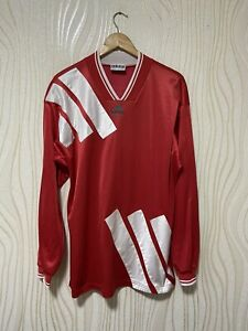 ADIDAS 90s FOOTBALL SHIRT SOCCER JERSEY LONG SLEEVE VINTAGE sz XL