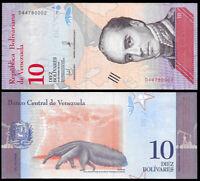 Venezuela 10 Bolivares Soberano 2018 Note Series D8 P-New @ UNC