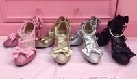 New Sweet Lolita Cosplay Pearls Bows Princess Shoes 5006