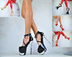 SEXY Damenschuhe Nachtclub-Party Pumps EXTREM XXXL Plateau  GOGO High Heels