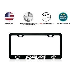 Toyota RAV4 Stainless Steel Black License Plate Frame