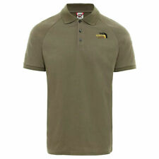 The North Face Mens Olive Green Raglan Jersey Loose Fit Short Sleeved Polo Shirt