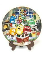 "An M&M Christmas - Porcelain Collector Plate Danbury Mint w/ Certificate 8"" RARE"