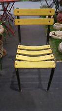 8 sedie ferro da giardino nere e gialle. Iron Garden Chairs ^