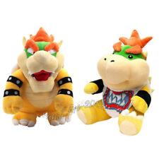 2pcs Super Mario Bros King Koopa Bowser Jr. Plush Soft Doll Figure Toy Gift
