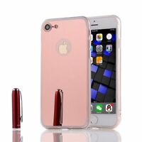 Luxury Ultra-thin Soft Silicone TPU Mirror Case Cover For iPhone 4s 5s 6S 7 Plus