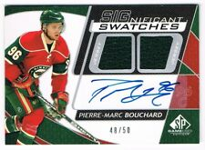 2008-09 SP Game-Used SIGnificant Swatches Auto Jersey Pierre-Marc Bouchard 48/50