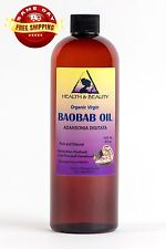 BAOBAB OIL UNREFINED ORGANIC EXTRA VIRGIN COLD PRESSED PRIME FRESH PURE 48 OZ