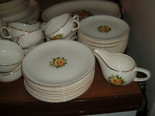 Lot of 12 Vintage Paden City Pottery Golden Scepter Yellow Rose Design Plates