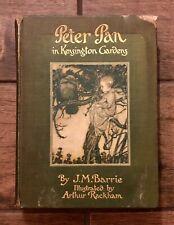 """""""Peter Pan in Kensington Gardens"""" J.M. Barrie, Arthur Rackham Hardcover 1910"""