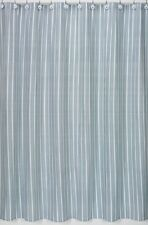 BLUE WHITE MODERN STRIPE SPA HOTEL BATH FABRIC SHOWER CURTAIN SWEET JOJO DESIGNS