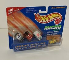HOT WHEELS Micro CITY EMERGENCY 3-Vehicle Set with CITY TOWING SERVICE – New!!!