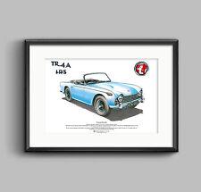 Triumph tr4a IRS Arte Cartel Tamaño A3
