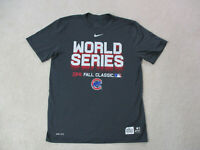 Nike Chicago Cubs Shirt Adult Large Gray Red World Series Baseball Dri Fit Mens