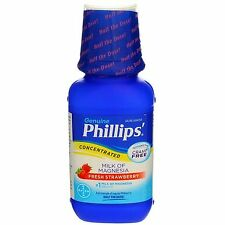 2 Pack Phillips Milk of Magnesia Saline Laxative Liquid, Fresh Strawberry, 8 ...