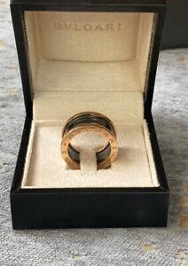 Bulgari ceramic black and rose gold ring Size 57 (8)