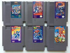 Nintendo NES Megaman Mega Man 1 + 2 + 3 + 4 + 5 + 6 Game Carts *Authentic* #1