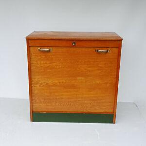 60er   Rollschrank Rollladenschrank Bauhaus Art Deco Notenschrank Aktenschrank