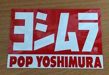 AUTOCOLLANT YOSHIMURA STICKERS MOTO ECHAPPEMENT EXHAUST STICKER POP YOSHIMURA