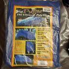 12' X 20' Multi Purpose Blue Poly Tarp 5 Mil Cover Tent  RV Camping Tarp