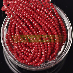 Lots Wholesale Rondelle Faceted Crystal Glass Loose Spacer Beads 3/4/6/8/10mm
