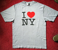 NEW Adult Size MEDIUM Beefy Silver I HEART (LOVE) NEW YORK Souvenir Grey T-shirt
