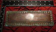 "FP13 Reclaimed / salvaged old brass finger plate for door (3 1/4"" x 10"")"