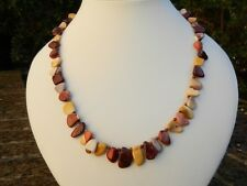 Handmade mookaite gemstone necklace with 925 sterling silver