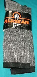 Alaskan Merino Hiker Socks, Light weight 90% Merino Wool  Color-Black/grey 10-13
